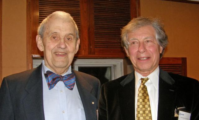 Former TRIUMF Direcotr Erich Vogt and Univ of Manitoba Physicist Wim Van Oers