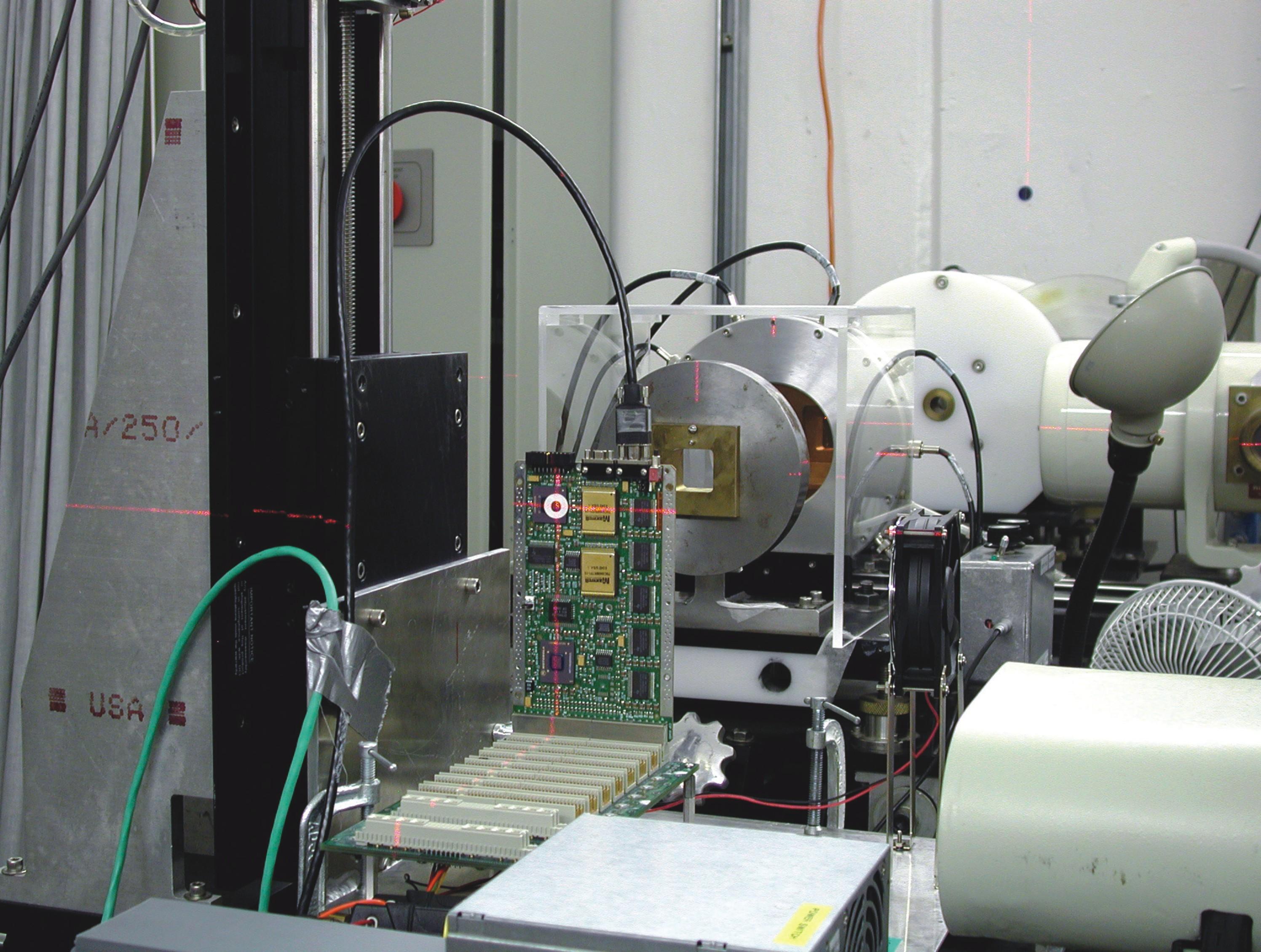 Proton test setup