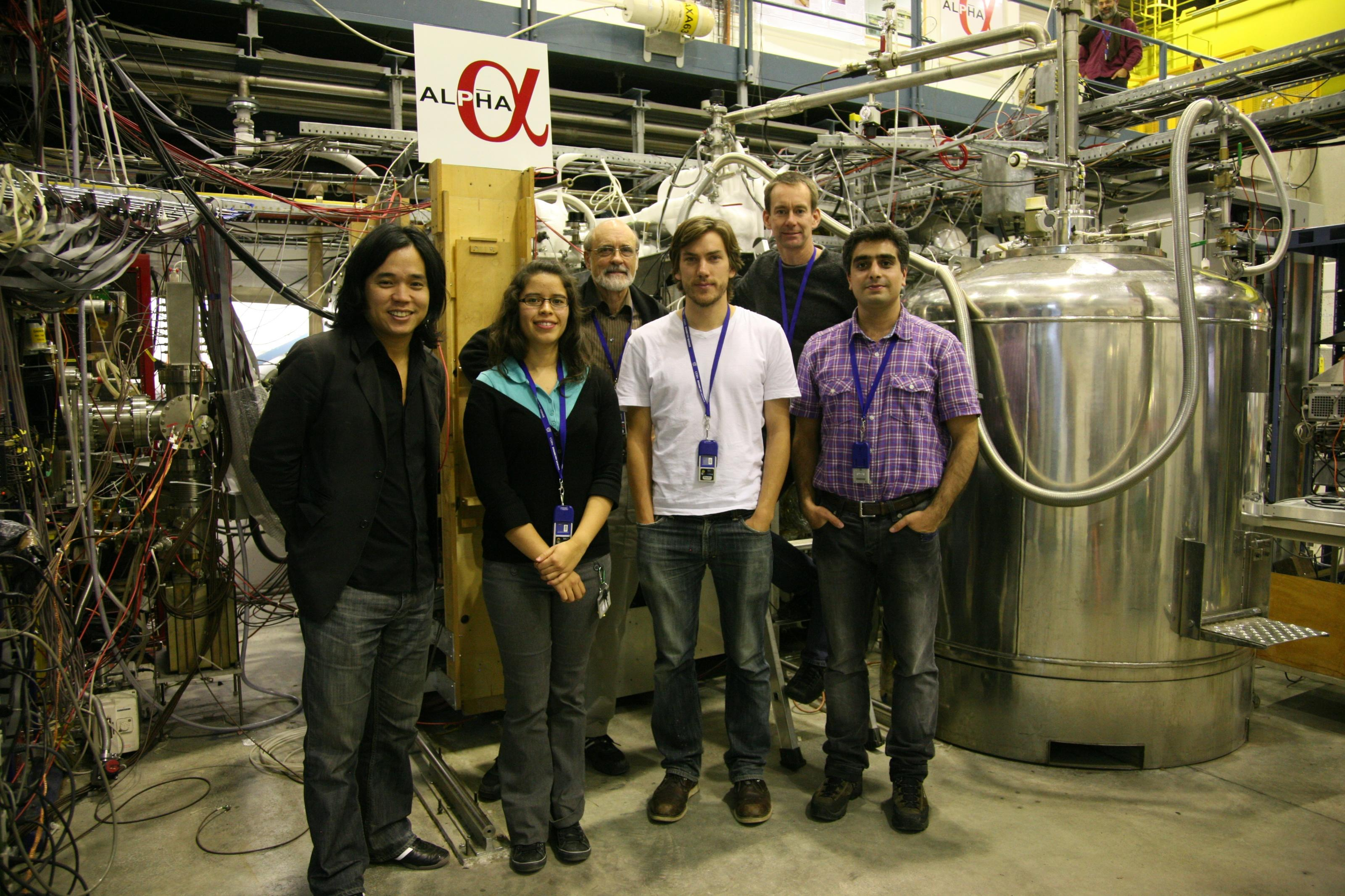 ALPHA Canada studetns and faculty members at CERN, Nov 17, 2010
