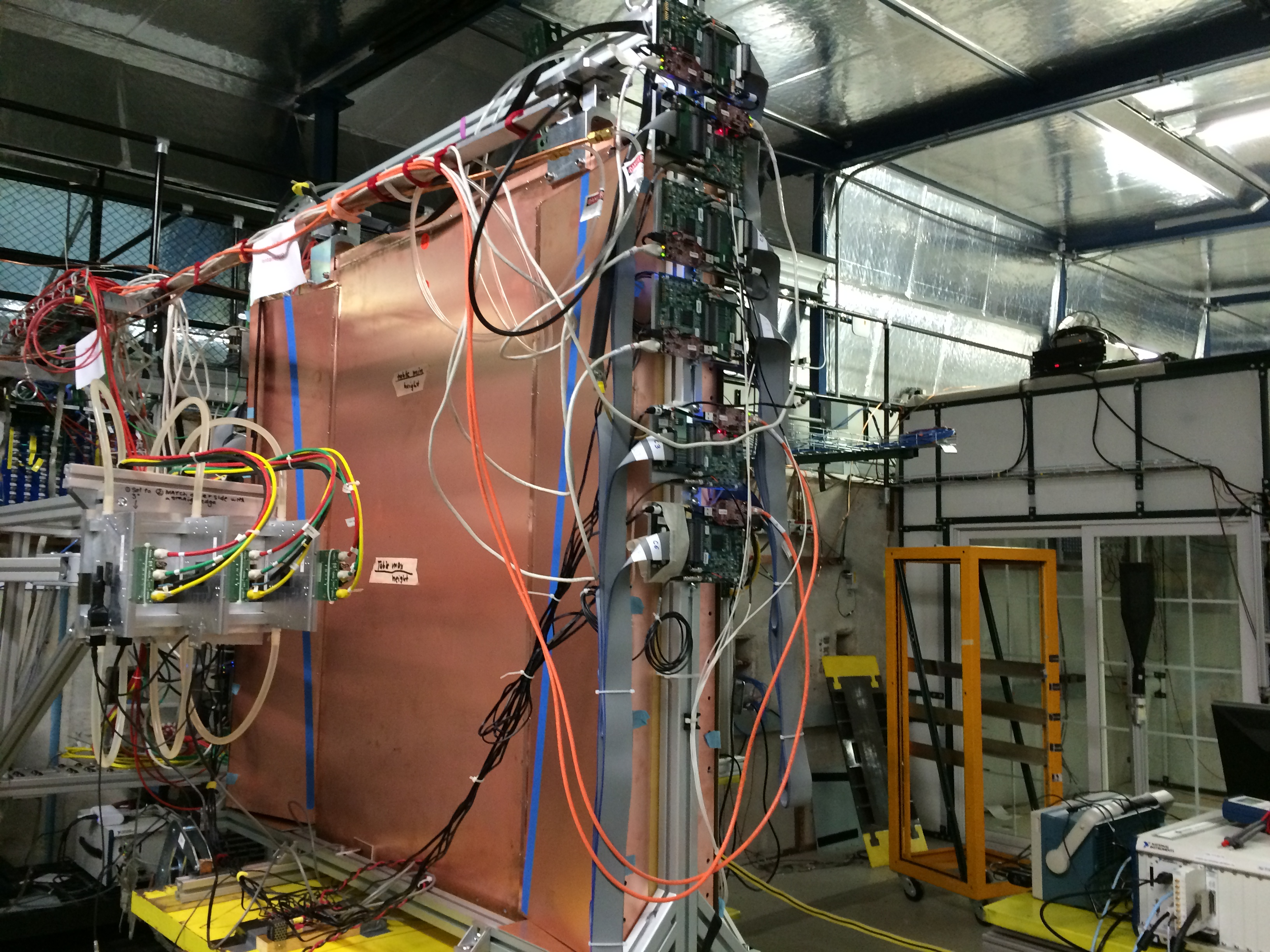 A prototype of the new muon wheel infrastructure for the ATLAS detector.