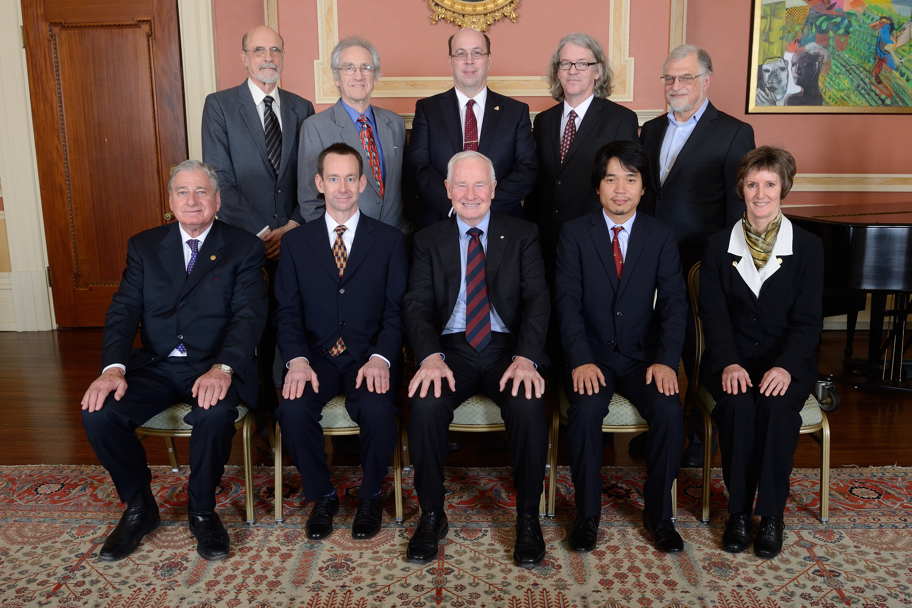 ALPHA Canada team upon receiving the NSERC Polanyi Prize in 2013. (credit NSERC).